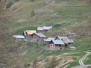 Der Weiler Rioufenc in  2028 m Höhe im Cristillan-Tal (Queyras)