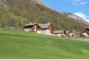 Le Pied du Mélézet, hameau au départ des pistes