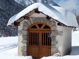 Die Kapelle Rameaux auf dem Weg zu Clapière (Ceillac, Queyras)