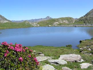 Il lago Baricle a Ristolas