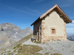 Poste optique de la tête de Favière, construit en 1900, à 2866m d'altitude