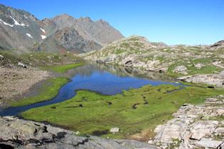 Le lac Blanchet inférieur à Saint Véran (Queyras - Hautes Alpes)