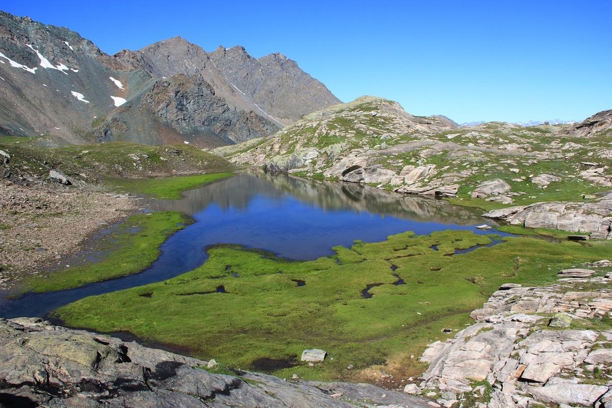 Il lago Blanchet inferiore a Saint-Véran (Queyras - Alti Alpi)