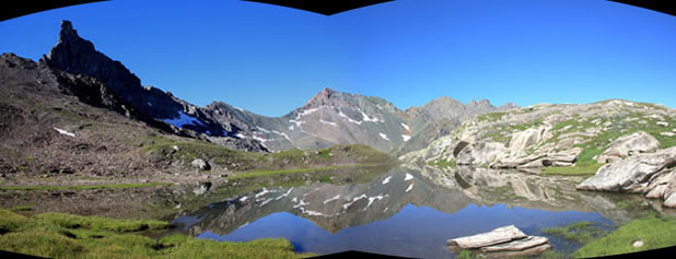 Il lago Blanchet superiore a Saint-Véran