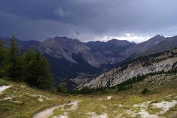 Vista su Brunissard (Arvieux) dal col Tronchet