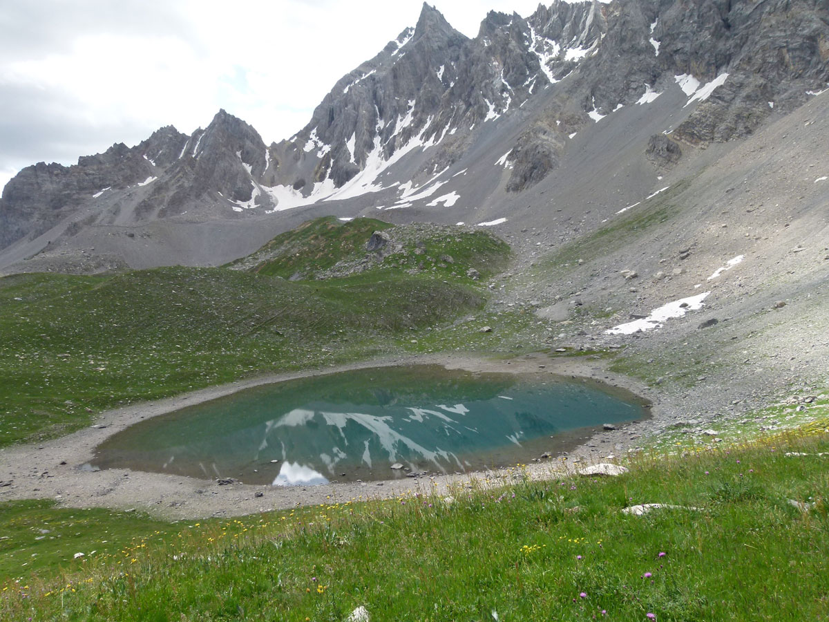 Klettersteig Queyras : Lacs de montagne des hautes alpes dans le queyras