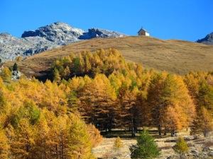 L'automne à la chapelle de Clausis à proximité de la mine de cuivre