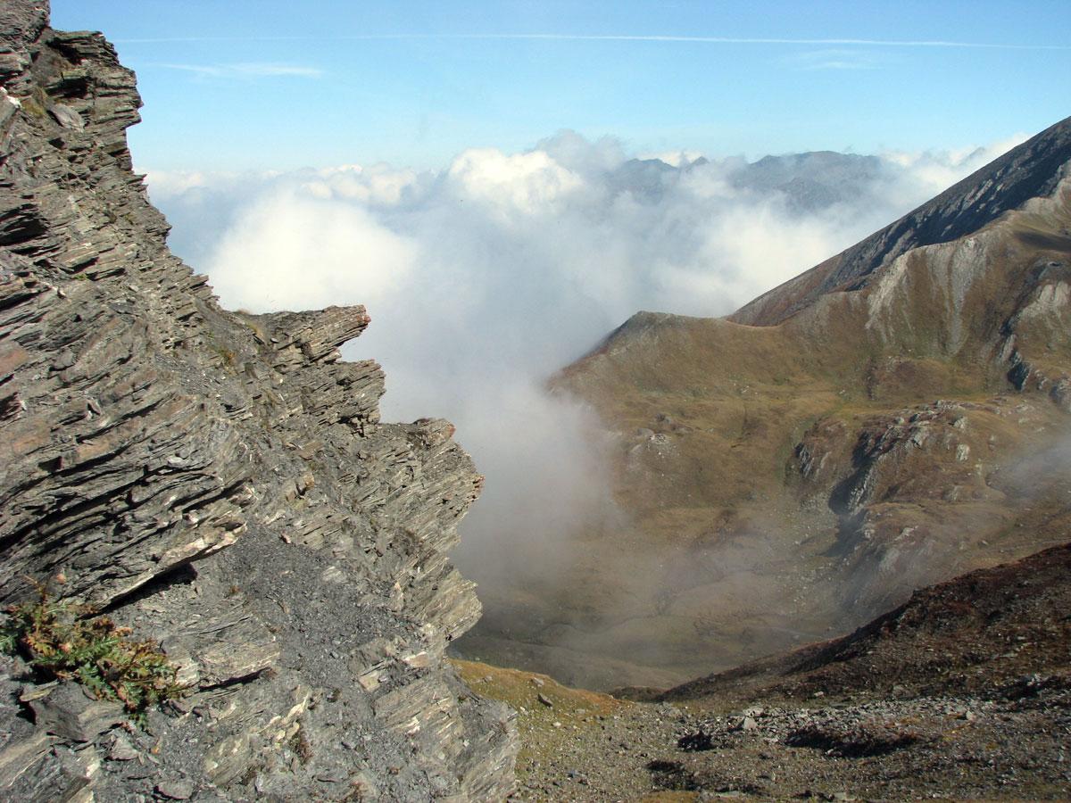 Nebbia au col Saint-Martin à Abriès