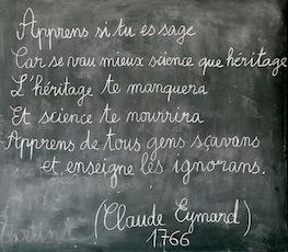 Schule von Arvieux (Queyras - Frankreich) - Apprends si tu es sage.