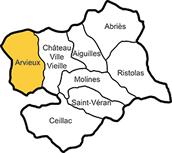 Il Queyras (Alte Alpi Alpes) con il comune di Arvieux