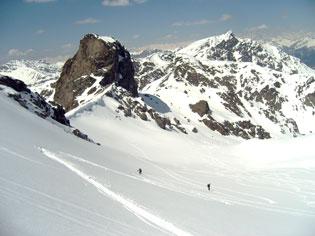 Ski de randonnée nature dans la Combe de Clausis à Saint-Véran