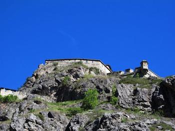 Fort-Queyras mit Wachturm