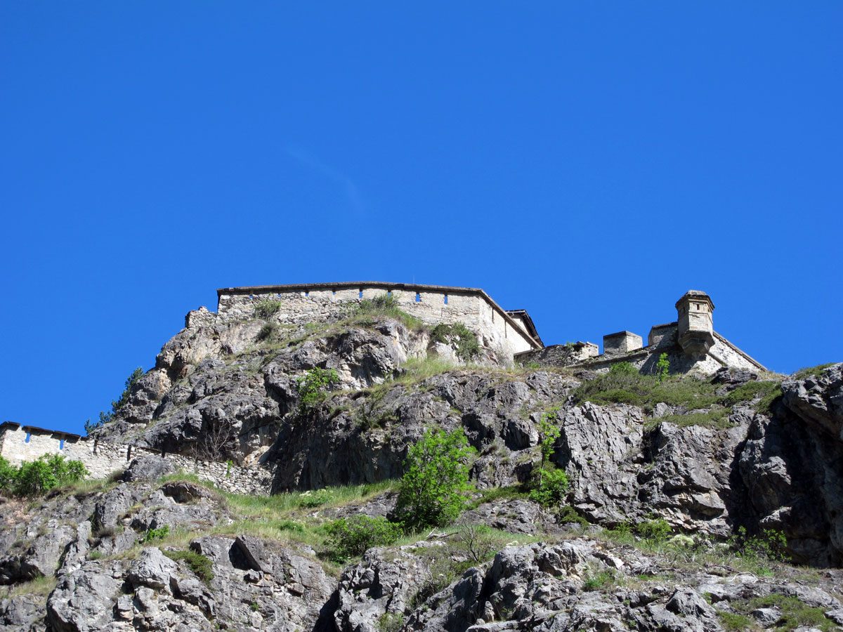 Klettersteig Chateau Queyras : Fort queyras château du revu par vauban