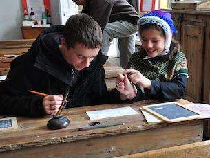 Schule von Arvieux (Queyras - Frankreich) - Undisziplinierter Schuler
