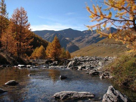 Un ruisseau sous le Col Saint-Martin à Abriès (Queyras)