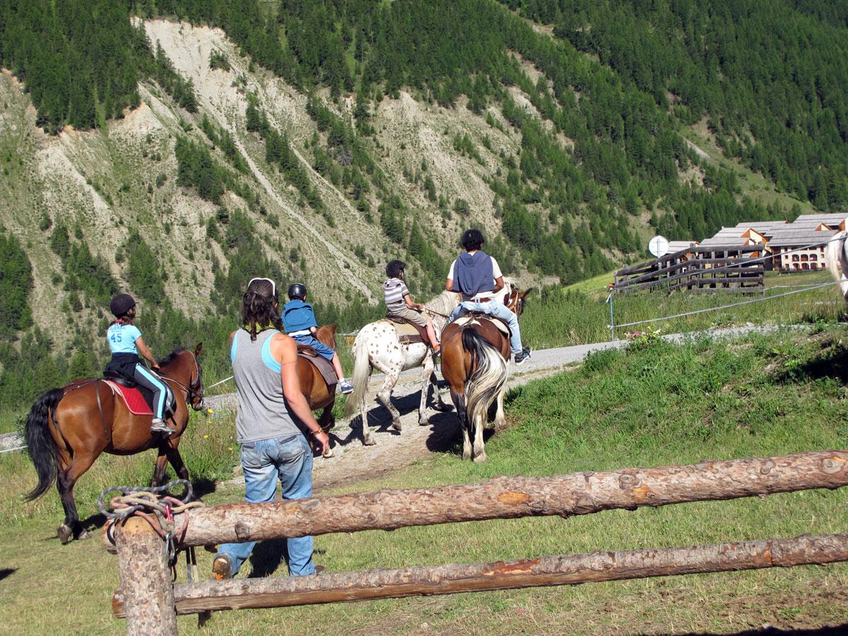 Klettersteig Queyras : Queyras panorama du bassin guil et des villages