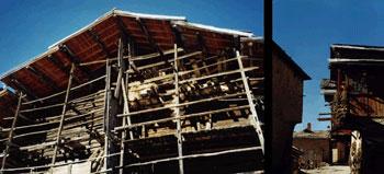 Holz-Handwerk: eine Fuste in Saint-Véran