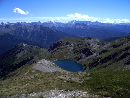 Le lac du Grand Laus à Aiguilles en Queyras est le plus grand des lacs de Malrif
