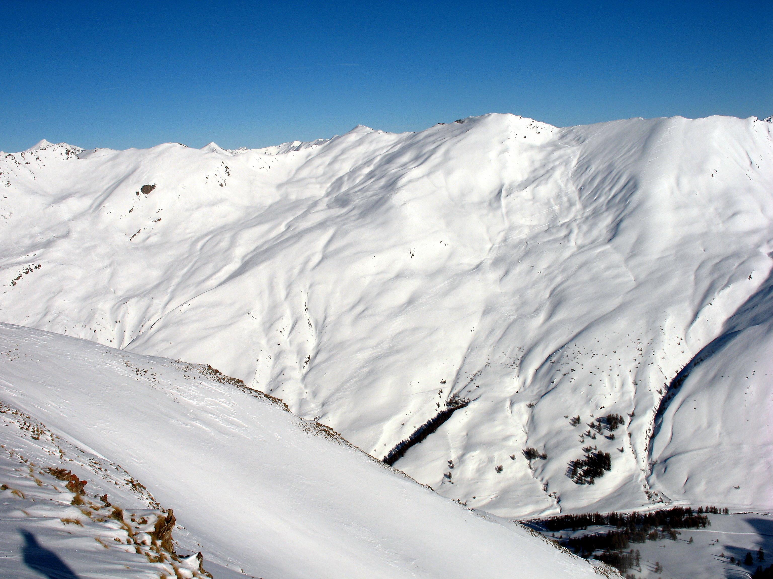 Vue depuis le Grand Serre, sommet de la station de ski Molines - Saint-Véran (2829 m)
