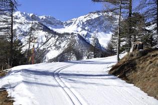 Piste de ski de fond à Arvieux