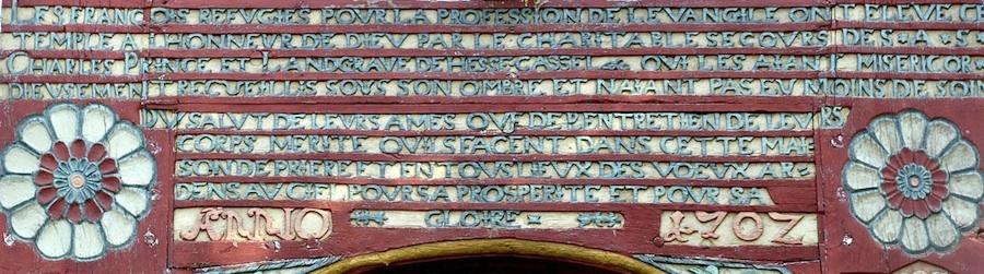 Portail du temple de Carlsdorf (Hesse)