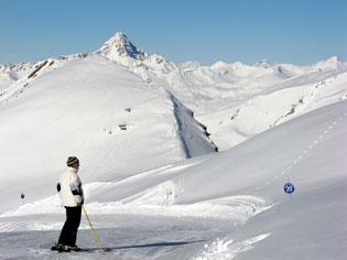 Le pic de Rochebrune (Arvieux) en hiver