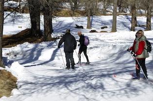 Ski de fond au lac de Roue à Arvieux