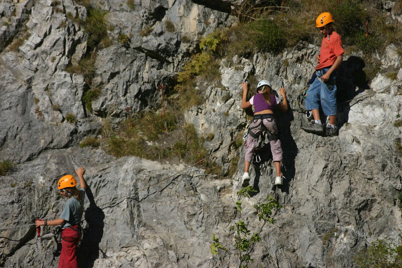 Klettersteig Ferrata : Via ferrata de fort queyras ceillac arvieux dans les hautes alpes