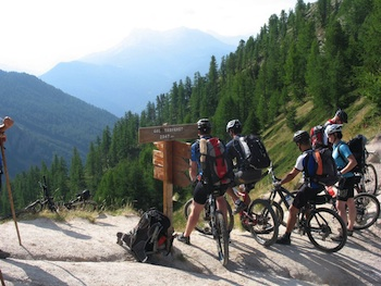 Mountain-biking on the Col Tronchet near Arvieux