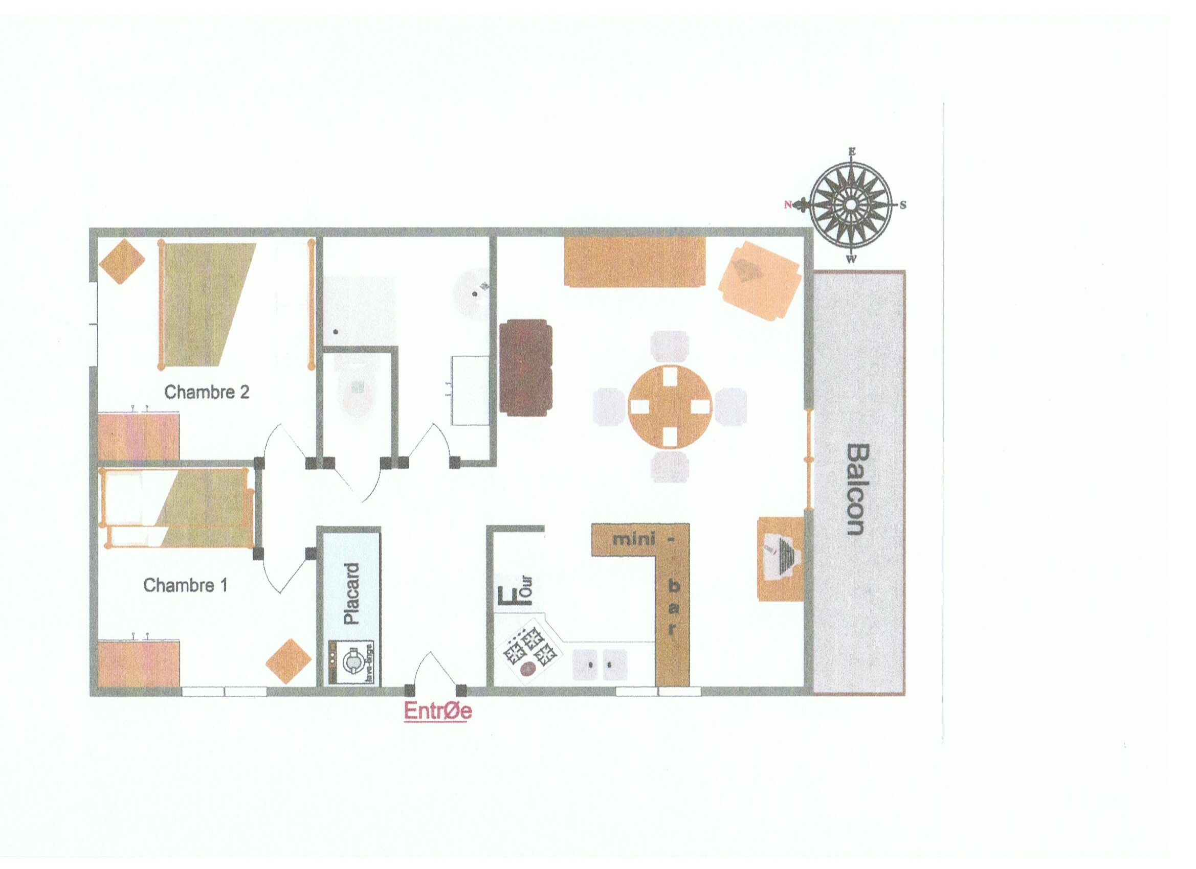 Location ceillac gilles lanctin for Plan appartement 1 chambre