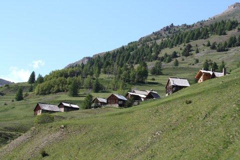 Les Chalmettes, una frazione di  Ceillac (Queyras)