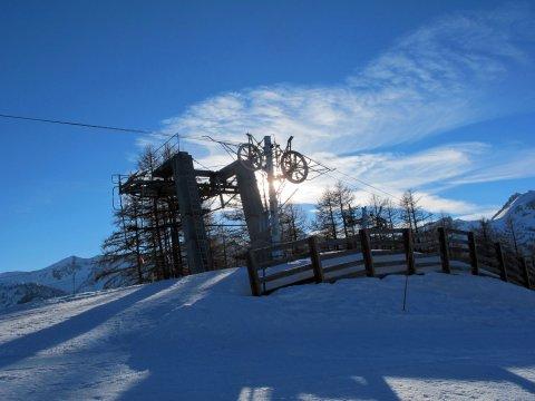Haut des pistes de ski d'Arvieux