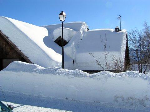Arvieux nach einem grossen Scneefall (Queyras)