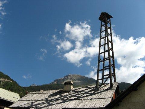 Der Glockenturm von Brunissard (Arvieux im Queyras)