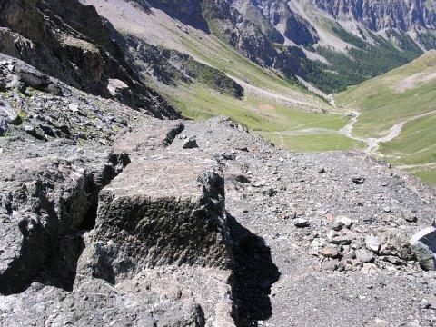Une carrière abandonnée dans le Queyras (Hautes Alpes)