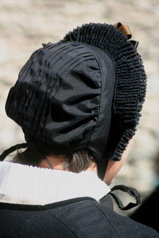 Traditionelle Tracht des Queyras - Haube