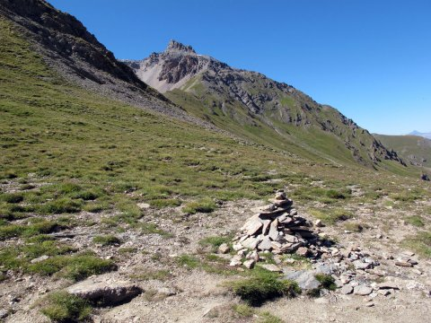 Col de Péas entre Queyras et Briançonnais (Hautes Alpes)