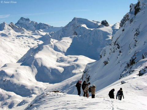 Haut de la station de ski de Saint-Véran