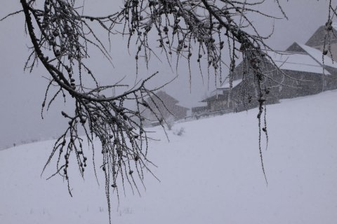 La neve cade nel Queyras