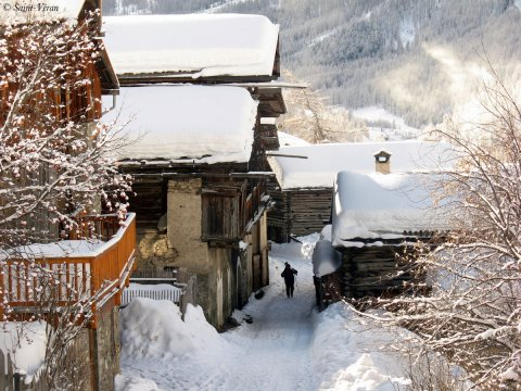 Le quarties du Villard à Saint-Véran (Queyras, Hautes Alpes)