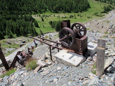 Broyeur à la mine de cuivre de Saint-Véran (Queyras, Hautes Alpes)