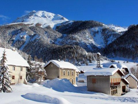 Schnee in Brunissard (Arvieux, Queyras)