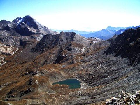 Pain de Sucre et lac de l'Eychassier à Ristolas (Queyras, Hautes Alpes)