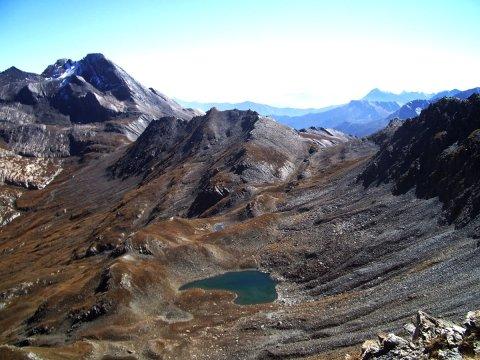 Pain de sucre e lago Eychassier a Ristolas (Queyras)
