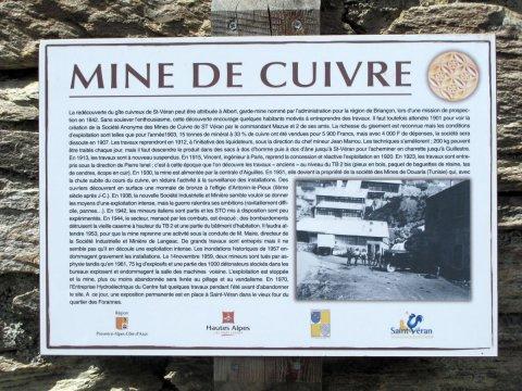 Mine de cuivre à Saint-Véran (Queyras, Hautes Alpes)