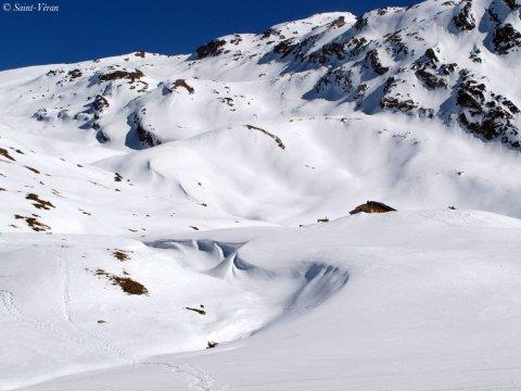 Perdu dans le grand Blanc du Queyras (Hautes Alpes)
