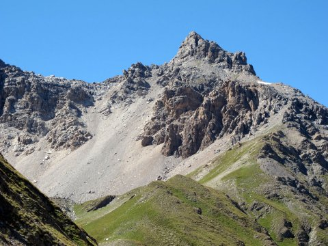 Rochebrune vue du col de Péas (Queyras)