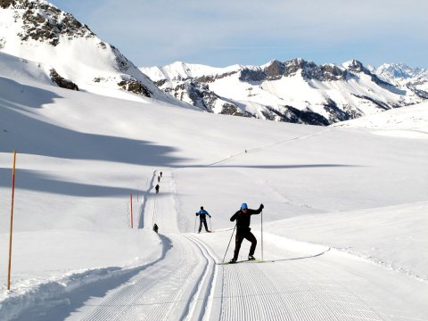 Skating dans le Queyras (Hautes Alpes)