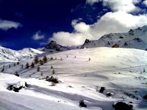 Die Bergspitze Tête des Toilies im Winter (Saint-Véran - Queyras)