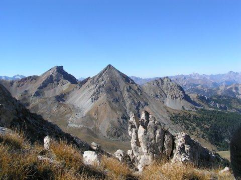 Aussicht vom Berg Clot-la-Cîme (Arvieux)